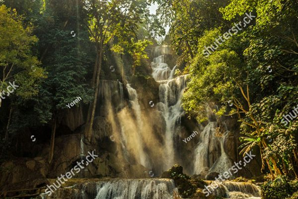 stock-photo-waterfall-kuang-si-in-laos-with-light-streaks-fog-and-nevel-1318116833